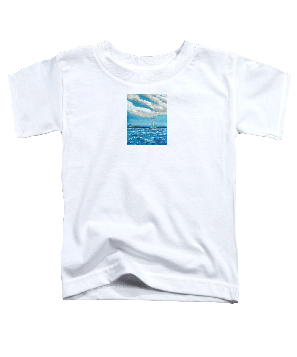 Impressionism Toddler T-Shirt featuring the painting Moored In The Bay by J R Seymour