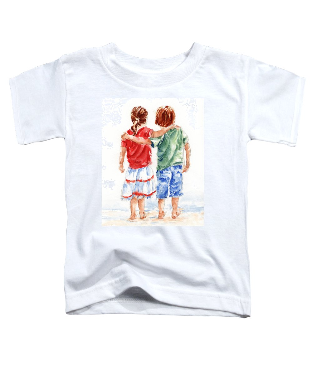 Watercolour Toddler T-Shirt featuring the painting My Friend by Stephie Butler