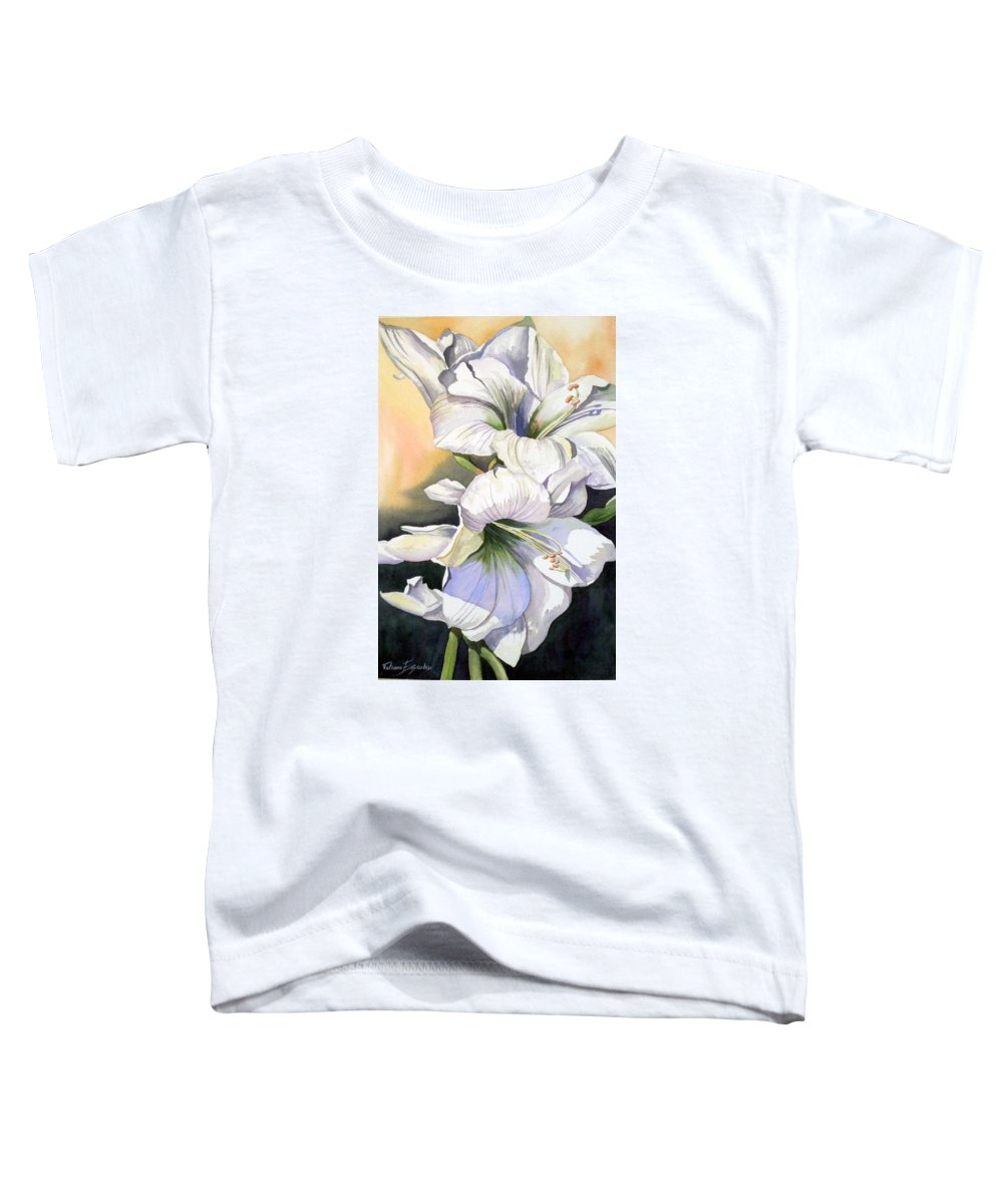 Flower Toddler T-Shirt featuring the painting My Love by Tatiana Escobar