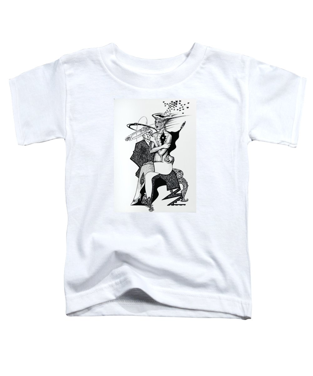 Love Toddler T-Shirt featuring the drawing My Shadow And I by Yelena Tylkina