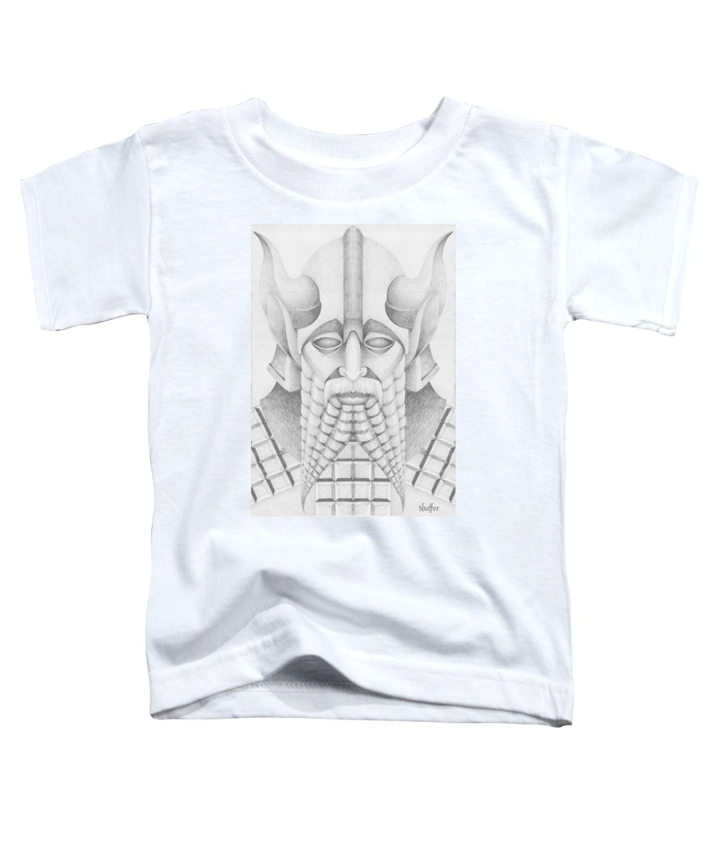 Babylonian Toddler T-Shirt featuring the drawing Nebuchadezzar by Curtiss Shaffer