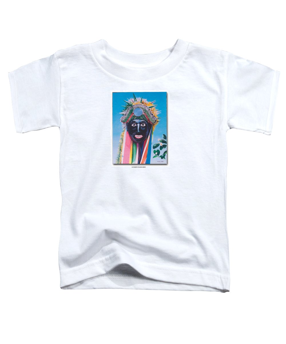 Michael Earney Toddler T-Shirt featuring the painting Negrito Y Flor De Limon by Michael Earney