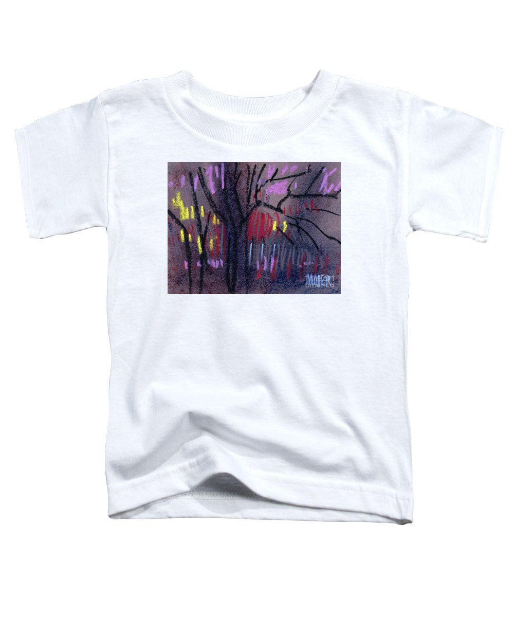 Abstract Toddler T-Shirt featuring the drawing Neighbor's Lights by Donald Maier