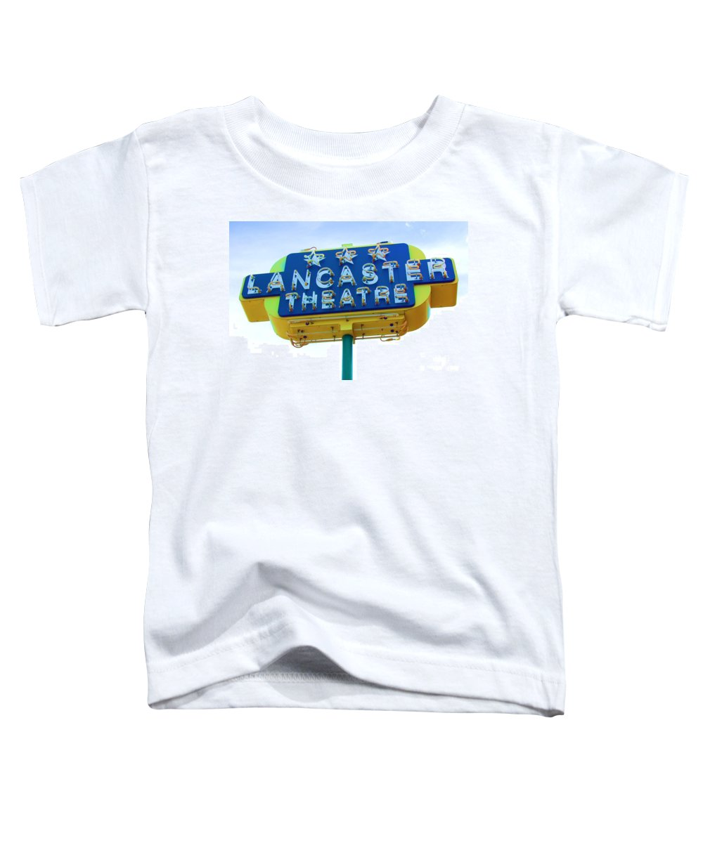 Sign Toddler T-Shirt featuring the photograph Neon by Debbi Granruth