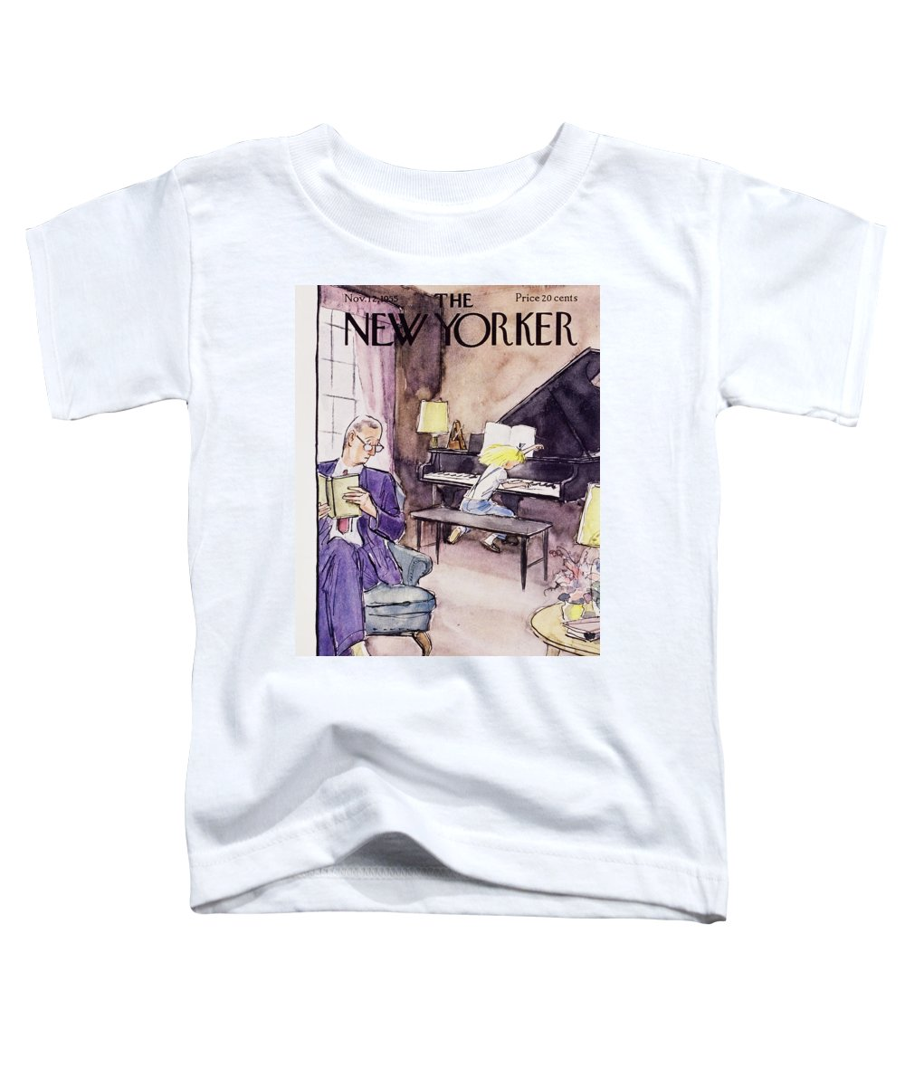 Father Toddler T-Shirt featuring the painting New Yorker November 12 1955 by Perry Barlow