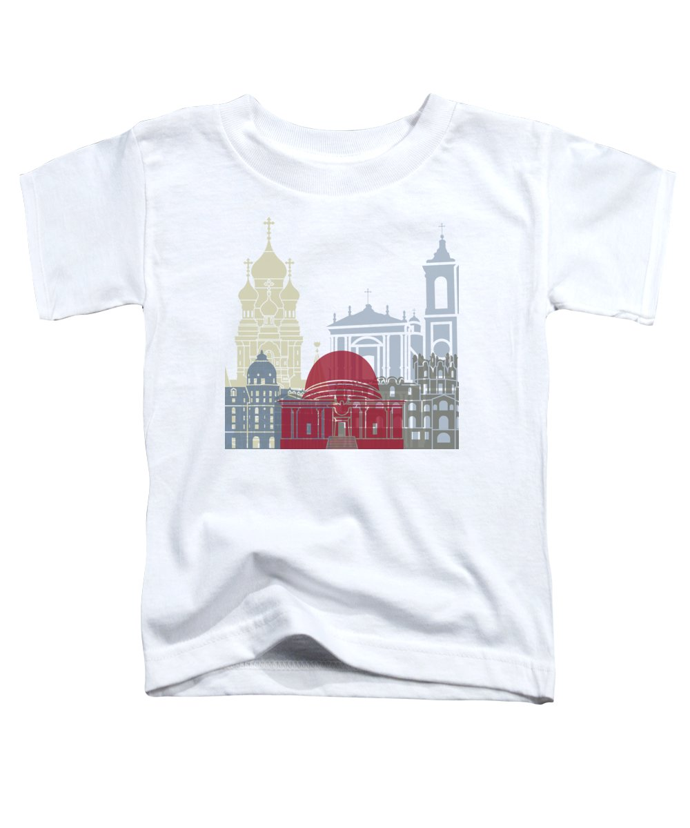 Europe Toddler T-Shirt featuring the painting Nice Skyline Poster by Pablo Romero