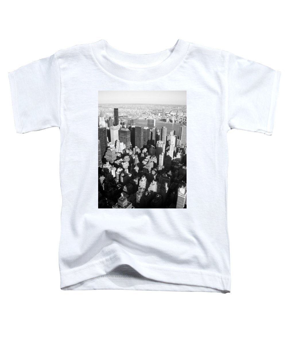 Nyc Toddler T-Shirt featuring the photograph Nyc Bw by Anita Burgermeister