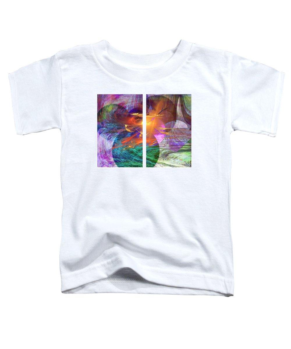 Ocean Fire Toddler T-Shirt featuring the digital art Ocean Fire by John Beck