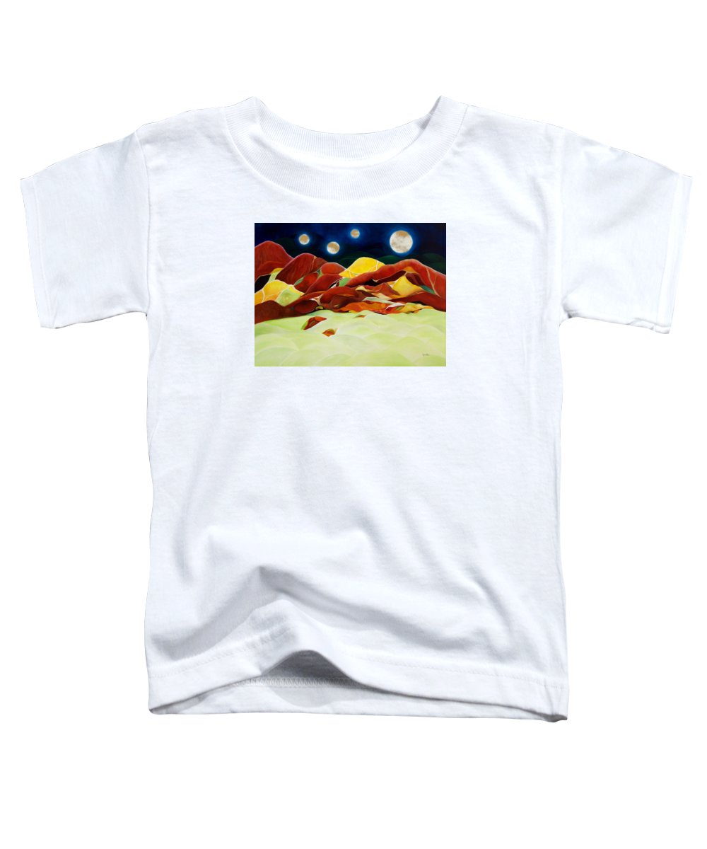 Oil Toddler T-Shirt featuring the painting One Step Up From Third by Peggy Guichu