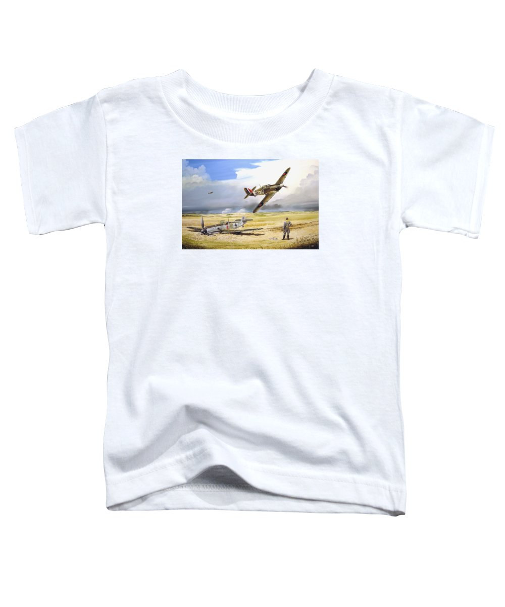 Painting Toddler T-Shirt featuring the painting Outgunned by Marc Stewart