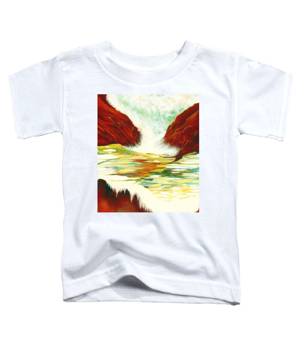 Oil Toddler T-Shirt featuring the painting Overflowing by Peggy Guichu