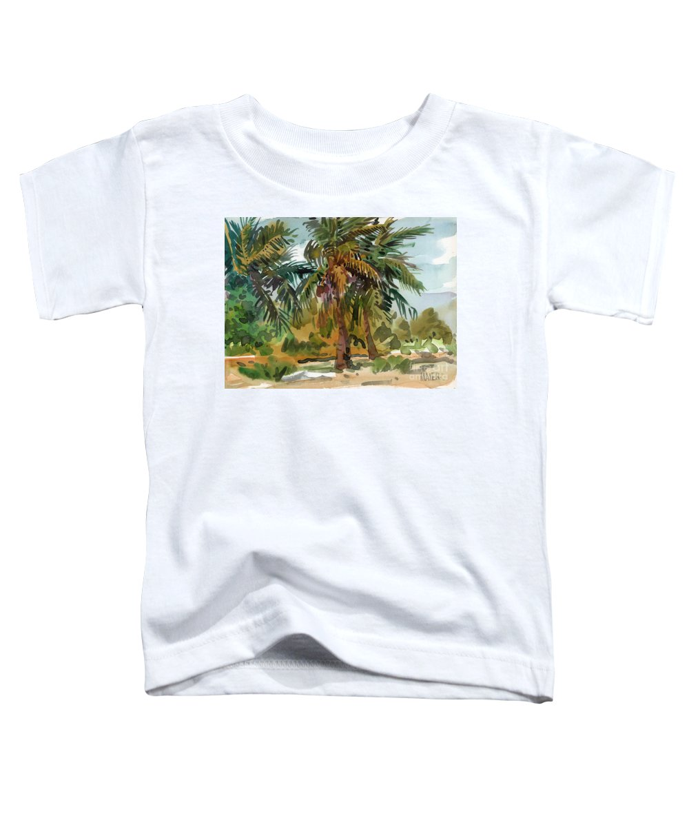 Palm Tree Toddler T-Shirt featuring the painting Palms In Key West by Donald Maier