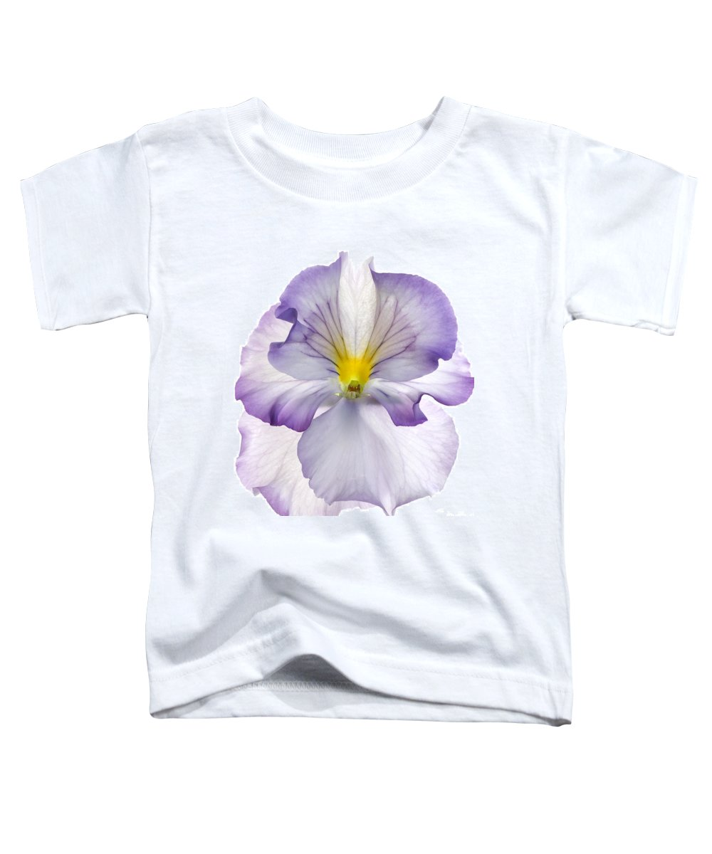 Pansy Genus Viola Toddler T-Shirt featuring the photograph Pansy by Tony Cordoza