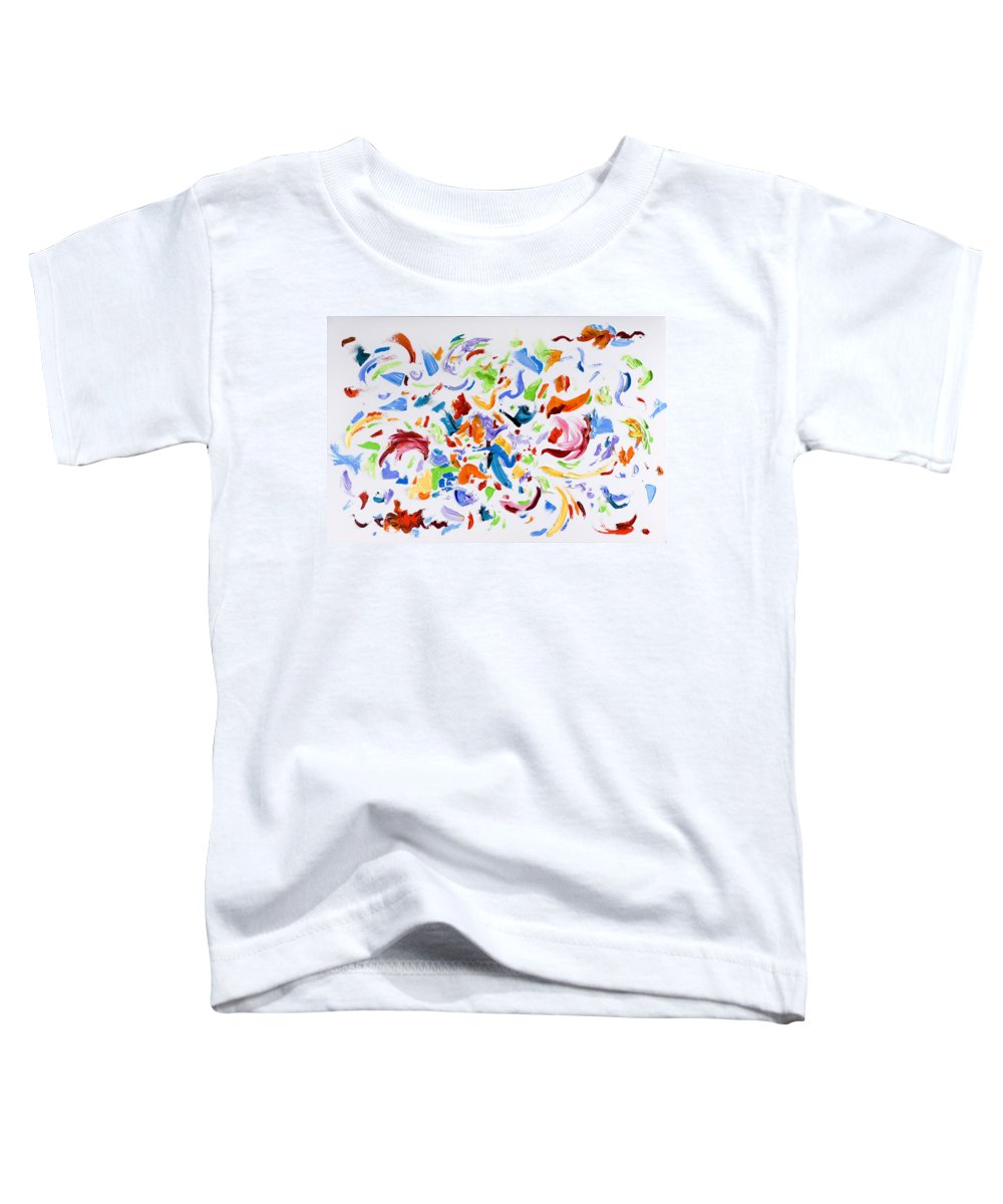 Red Toddler T-Shirt featuring the painting Party by Shannon Grissom