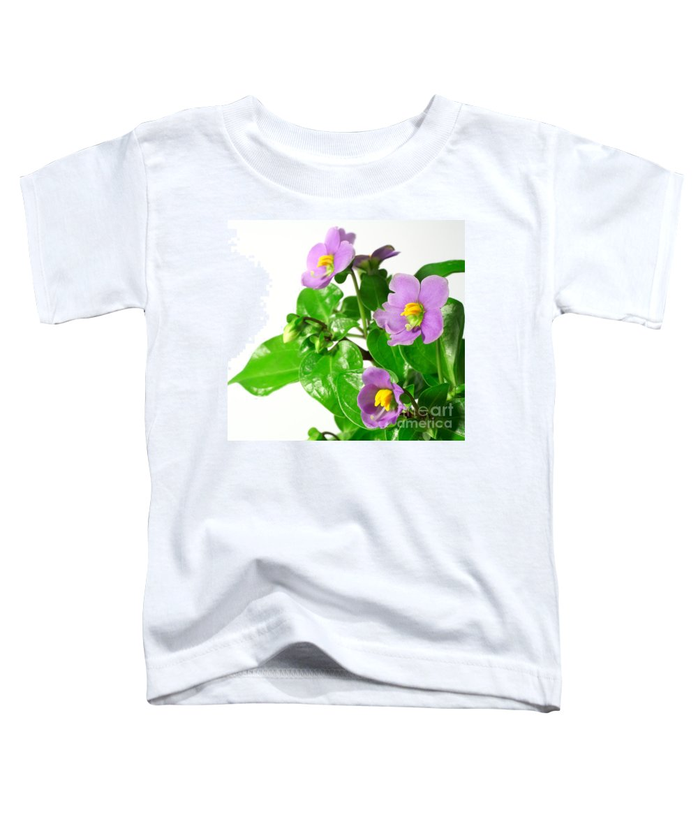 Closeup Toddler T-Shirt featuring the photograph Persian Violets by Gaspar Avila