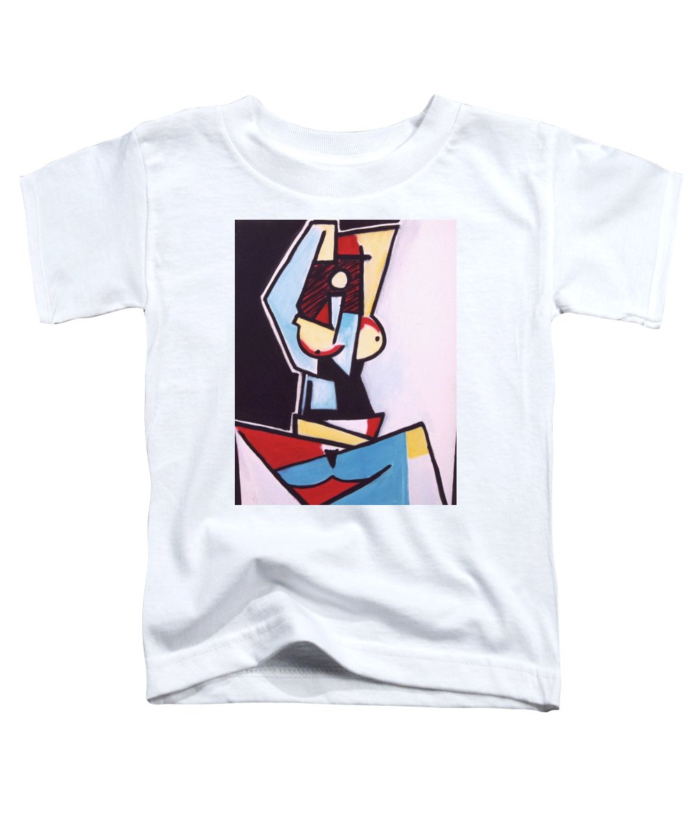 Picasso Toddler T-Shirt featuring the painting Picasso by Thomas Valentine