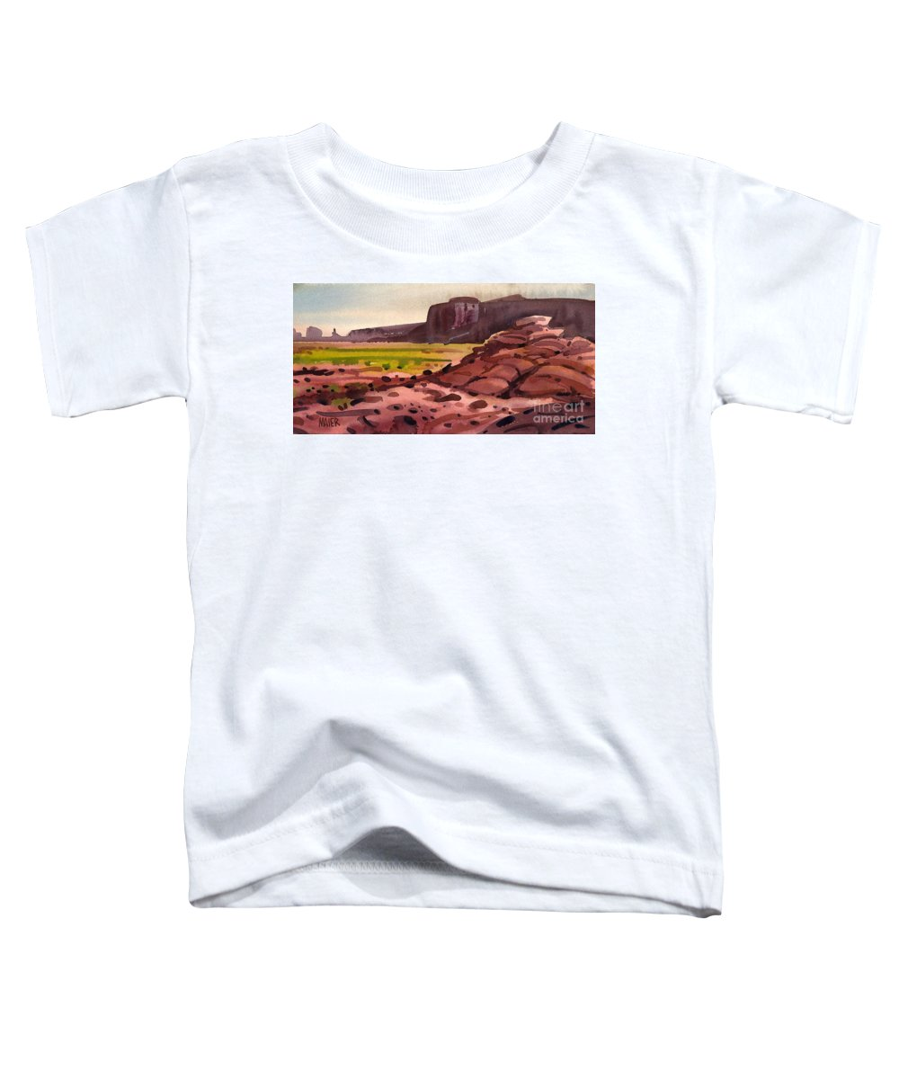 Monument Valley Toddler T-Shirt featuring the painting Pillow Rocks by Donald Maier