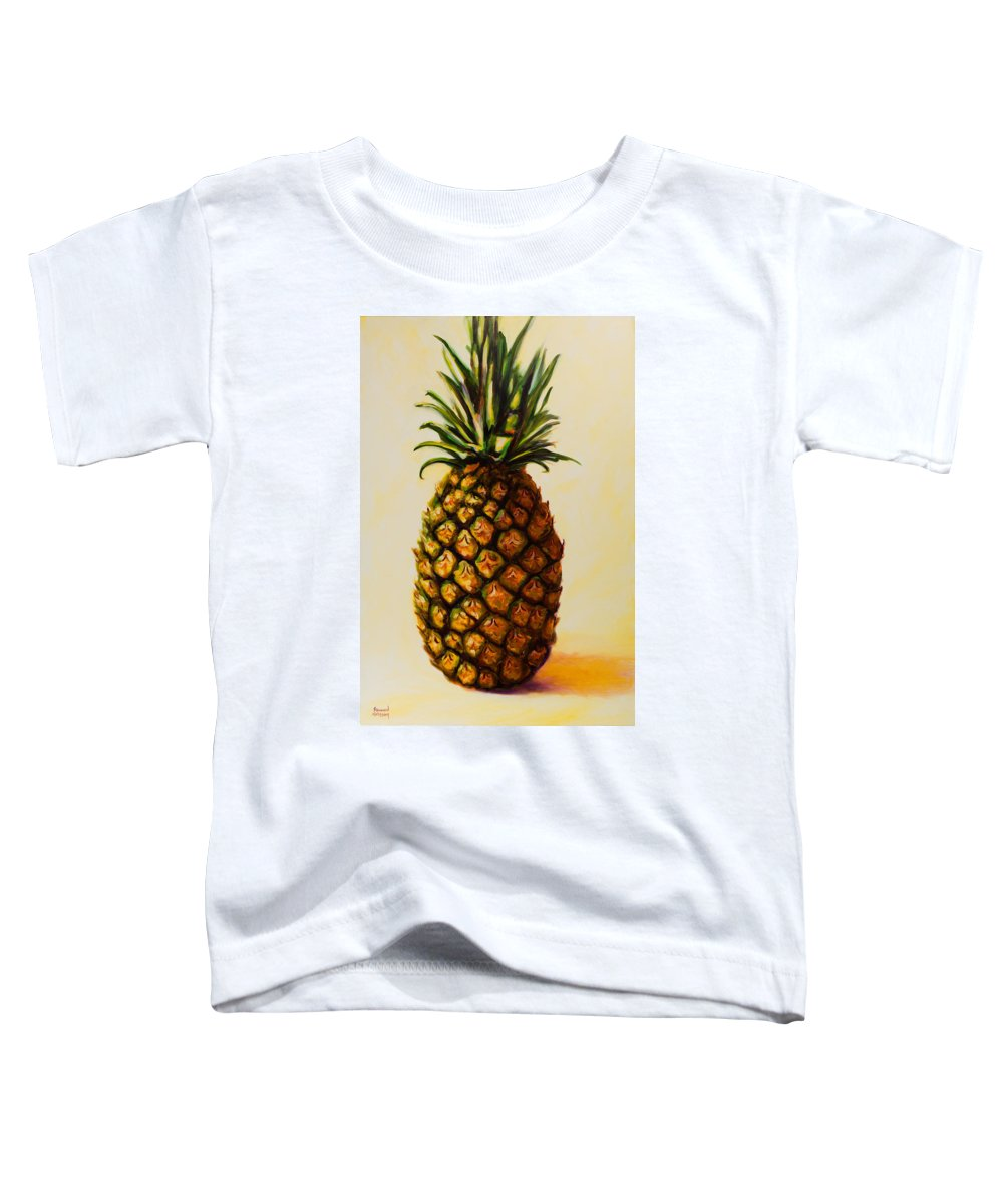 Pineapple Toddler T-Shirt featuring the painting Pineapple Angel by Shannon Grissom