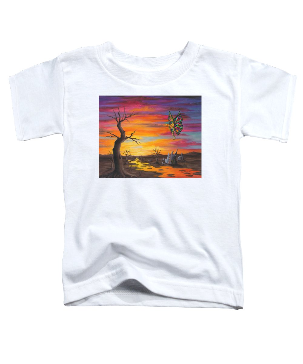 Fantasy Toddler T-Shirt featuring the painting Planet Px7 by Roz Eve