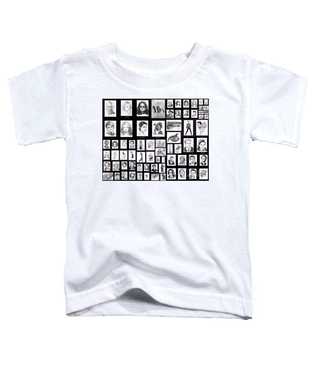 Portraits Toddler T-Shirt featuring the drawing Portrait And Illustrations On Fine Art America by Murphy Elliott