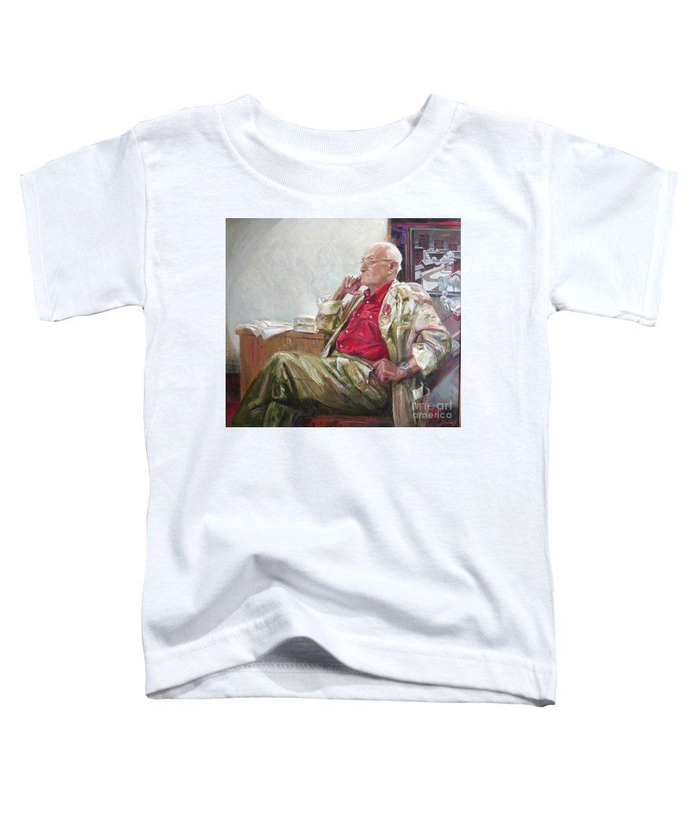Oil Toddler T-Shirt featuring the painting Portrait Of May Dancig by Sergey Ignatenko