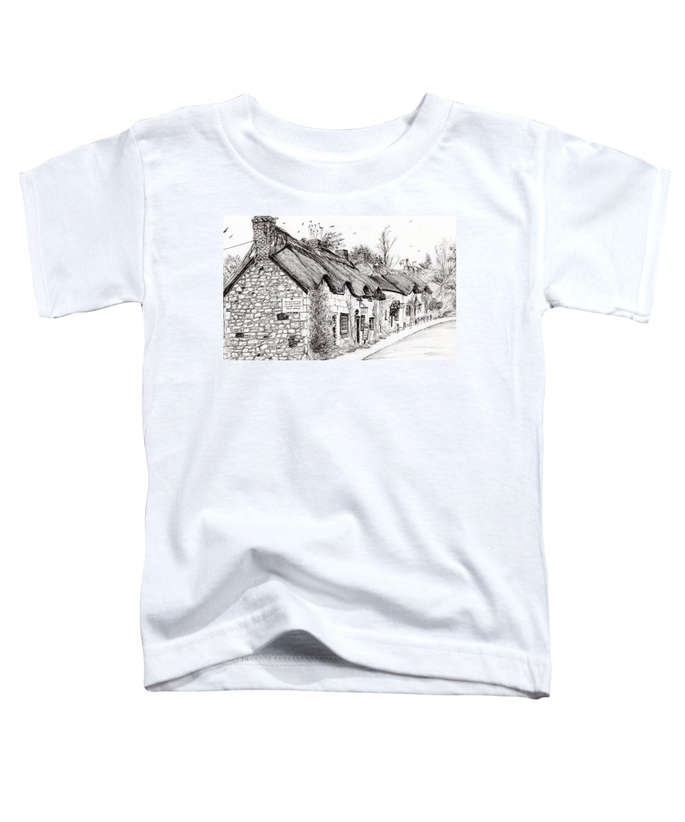 Thatched Roof Drawings Toddler T-Shirts