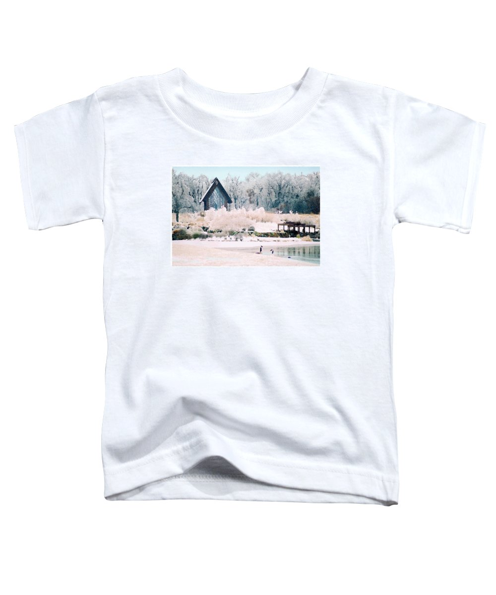 Landscape Toddler T-Shirt featuring the photograph Powell Gardens Chapel by Steve Karol