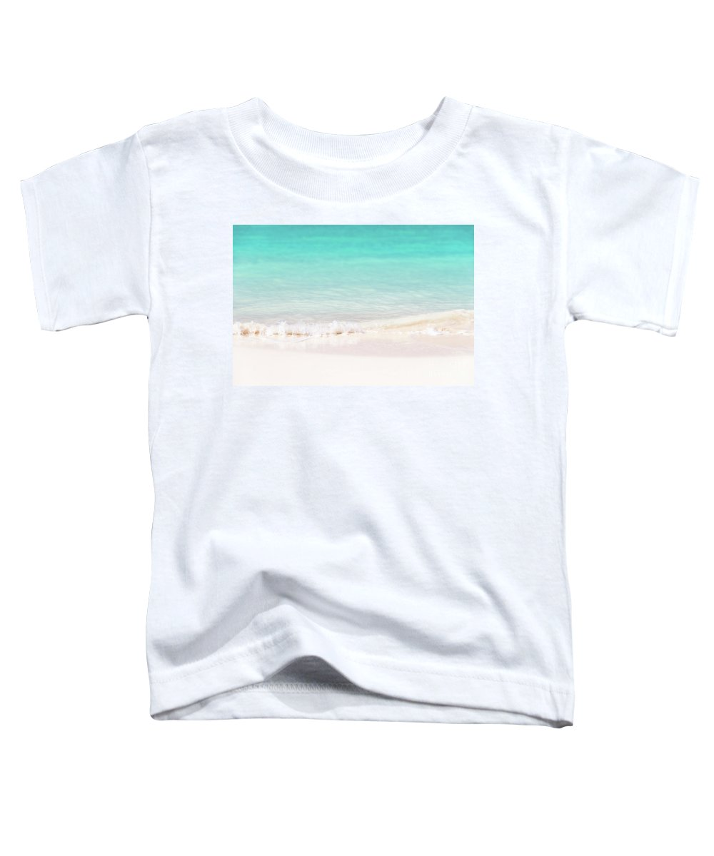 Beach Toddler T-Shirt featuring the photograph Pristine Water And White Sand by Delphimages Photo Creations