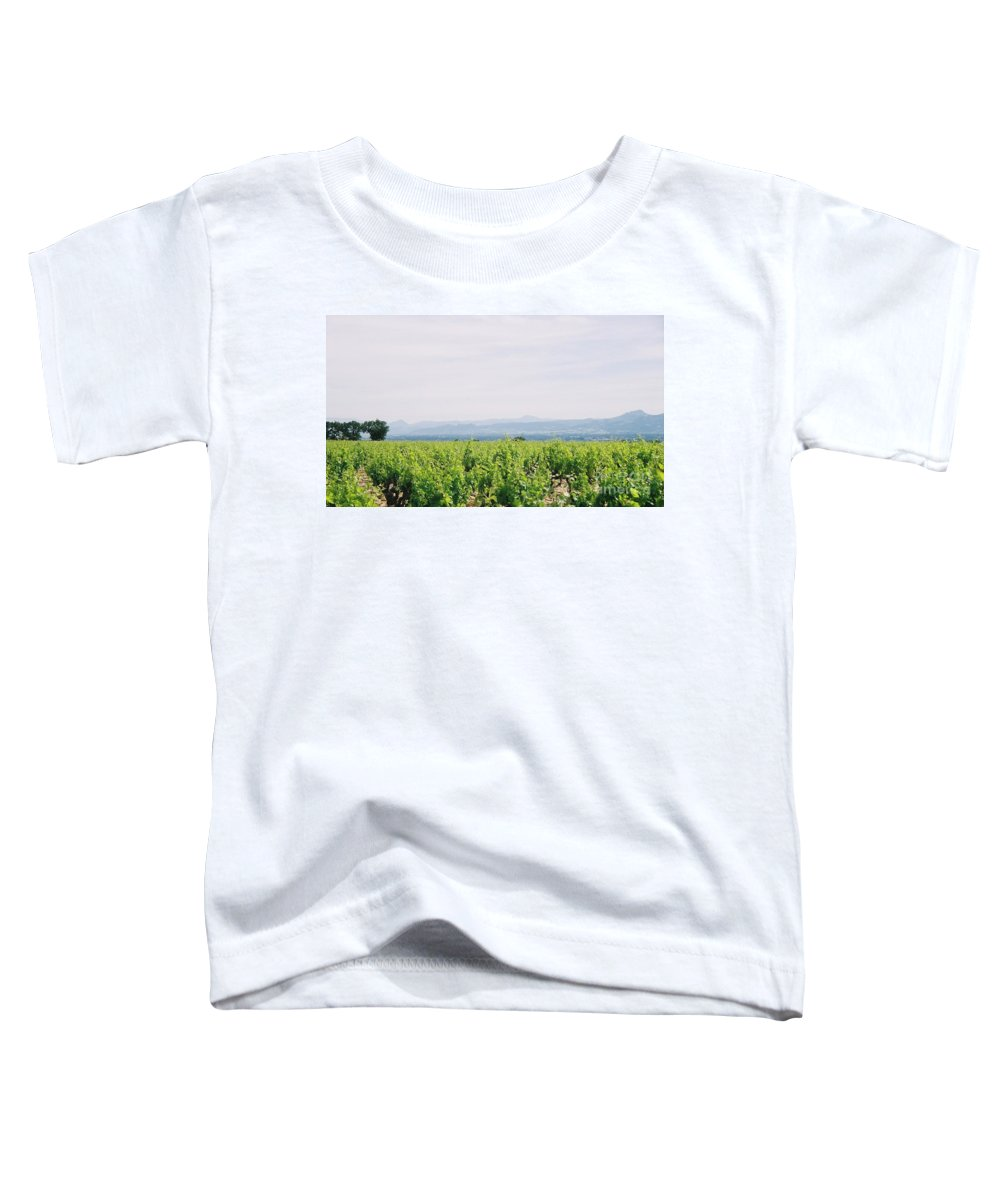 France Toddler T-Shirt featuring the photograph Provence Spring Vineyard by Nadine Rippelmeyer