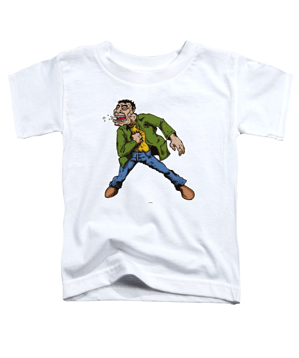 Illustration Toddler T-Shirt featuring the drawing Punch by Tobey Anderson