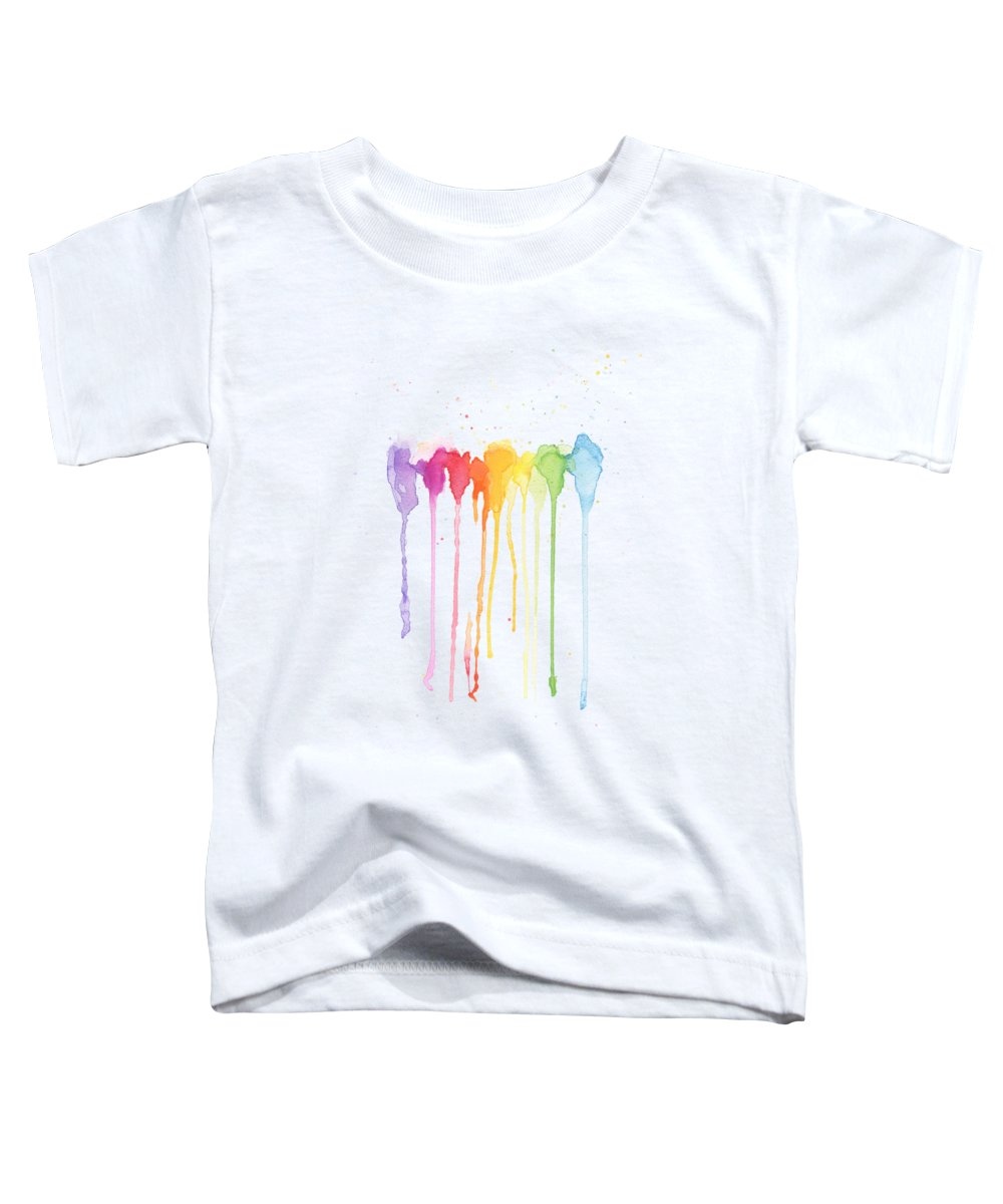 Rainbow Color Toddler T-Shirt featuring the painting Rainbow Color by Kathleen Wong