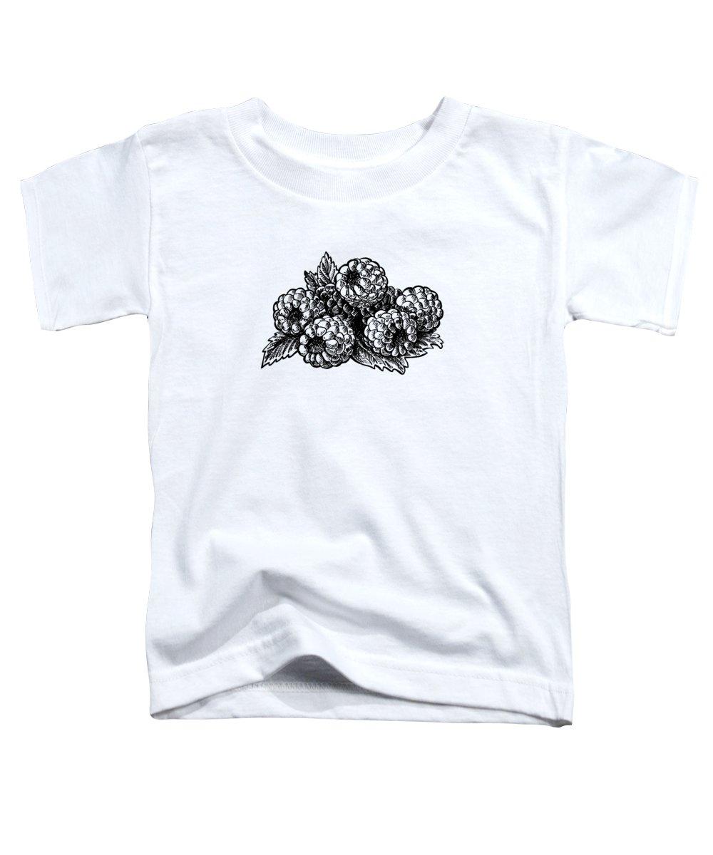 Raspberries Toddler T-Shirt featuring the painting Raspberries Image by Irina Sztukowski