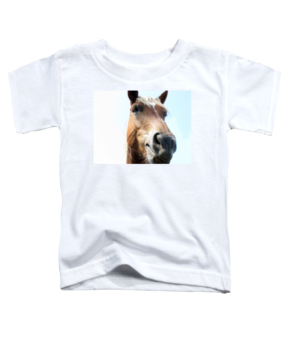 Horse Toddler T-Shirt featuring the photograph Really by Amanda Barcon