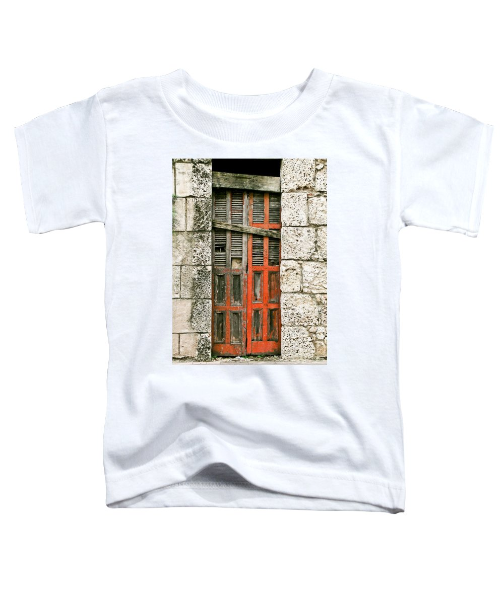 Door Toddler T-Shirt featuring the photograph Red Door by Douglas Barnett