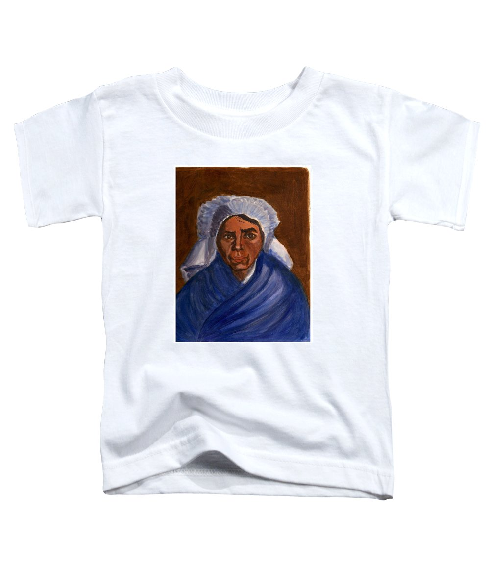 Peasant Woman By Van Gogh Reproduced Toddler T-Shirt featuring the painting Reproduction Of Van Gogh by Asha Sudhaker Shenoy