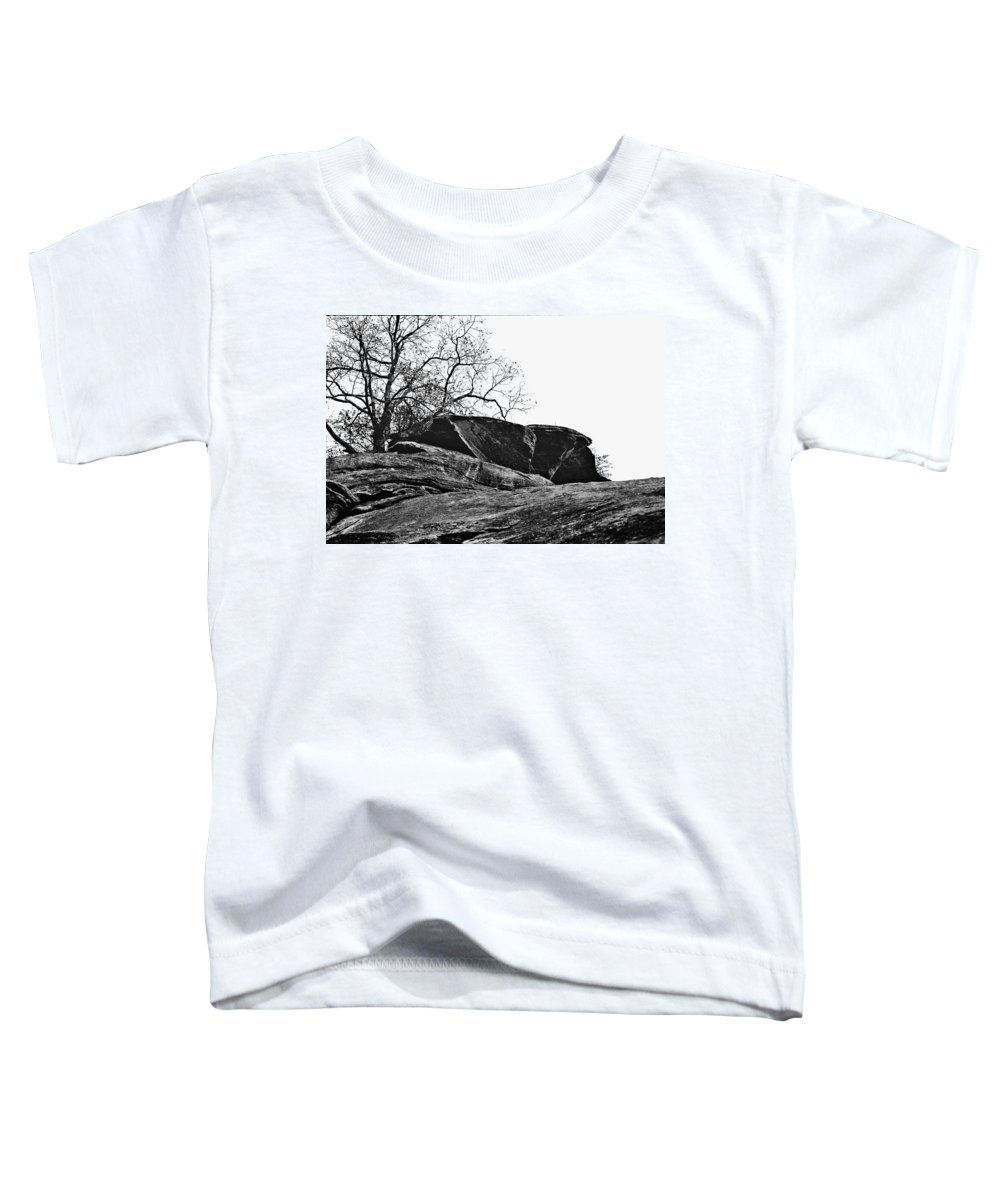 Landscape Toddler T-Shirt featuring the photograph Rock Wave by Steve Karol