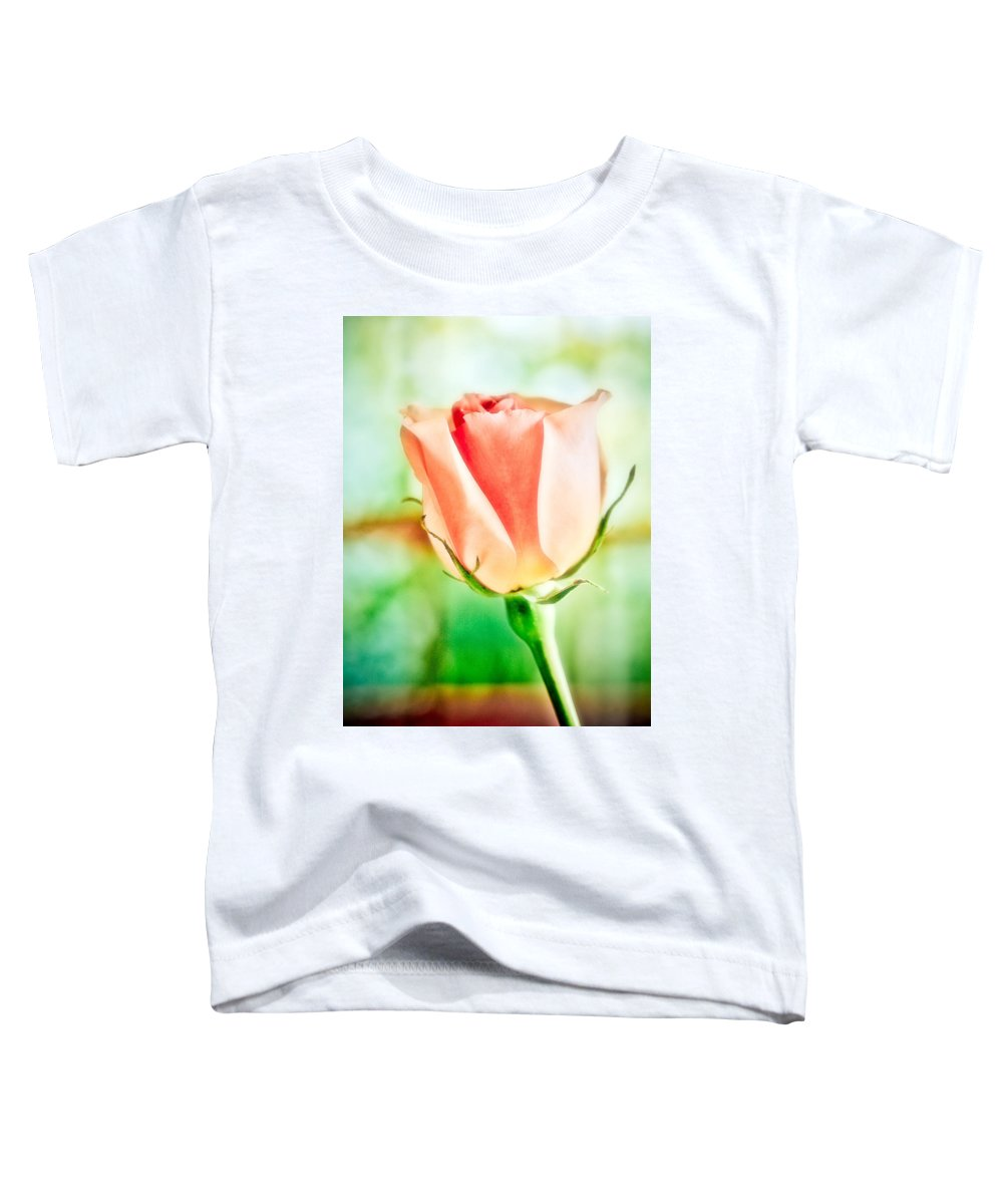 Rose Toddler T-Shirt featuring the photograph Rose In Window by Marilyn Hunt