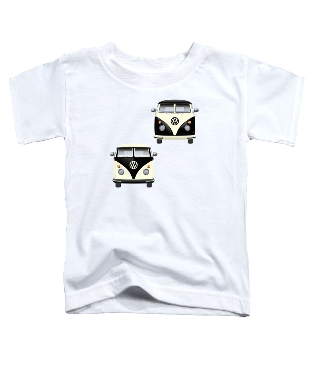 Two Tone Digital Art Toddler T-Shirts