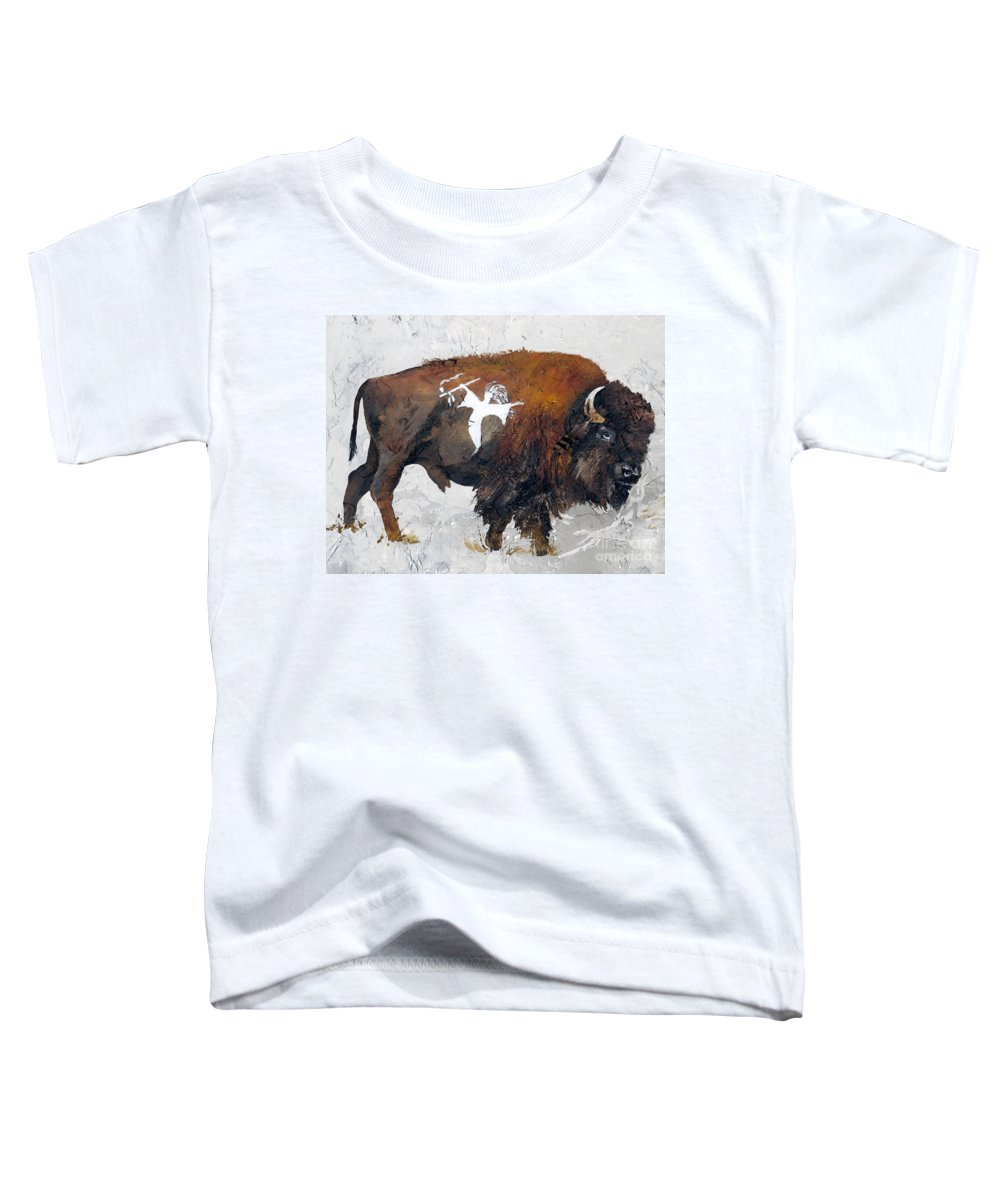 Southwest Art Toddler T-Shirt featuring the painting Sacred Gift by J W Baker