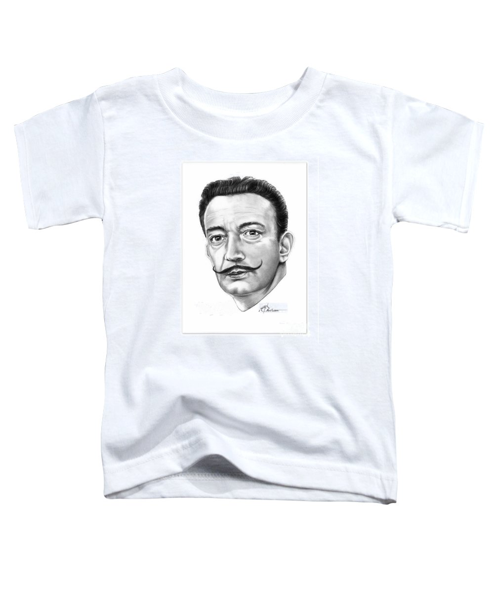 Salvador Dali Toddler T-Shirt featuring the drawing Salvador Dali by Murphy Elliott