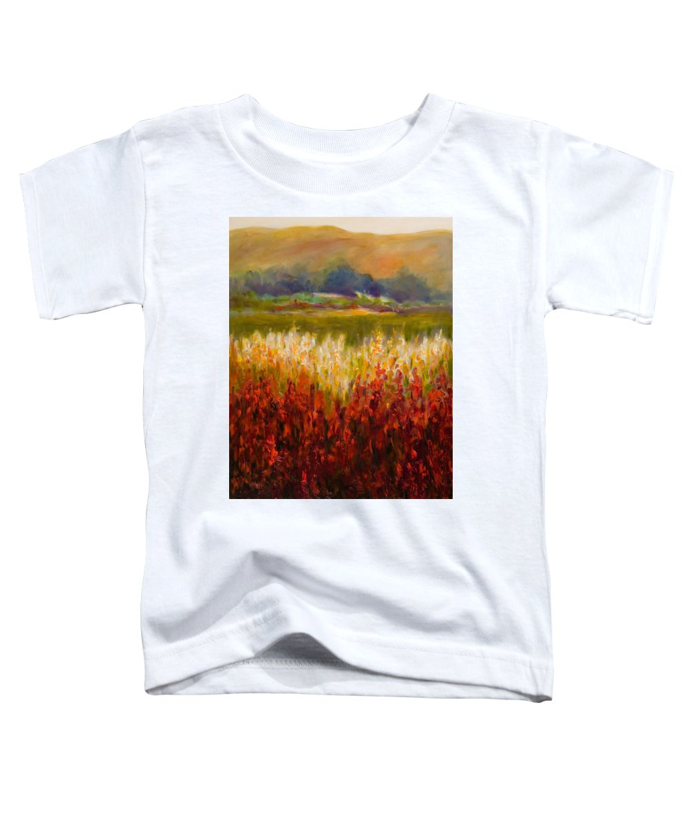 Landscape Toddler T-Shirt featuring the painting Santa Rosa Valley by Shannon Grissom