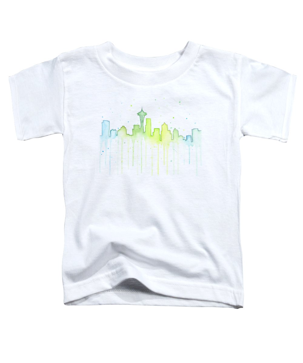 Seattle Skyline Toddler T-Shirts