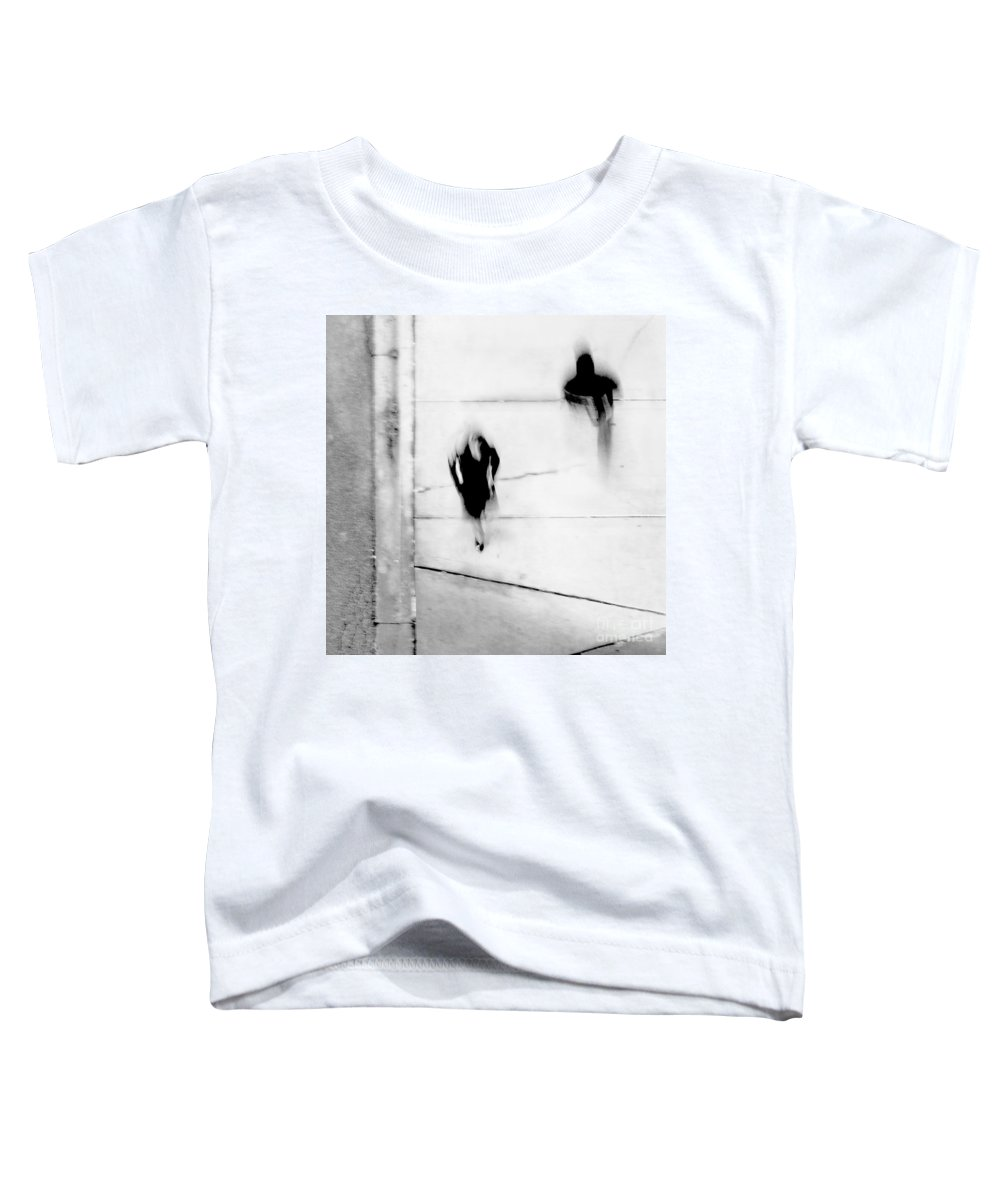 Black Toddler T-Shirt featuring the photograph Self-protection - If You Look Me In The Eye Will You See Me by Dana DiPasquale