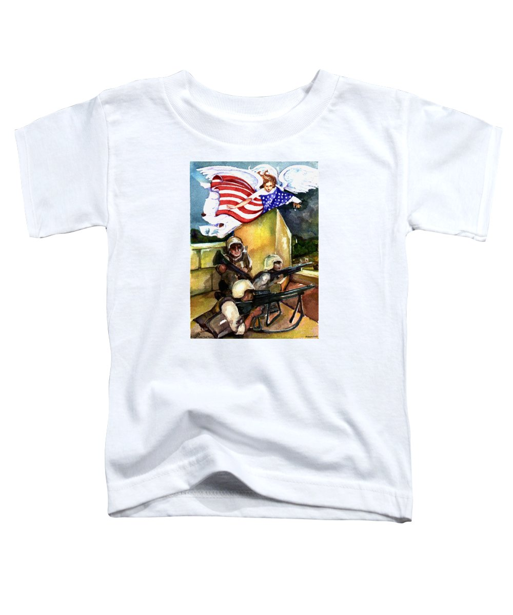 Elle Fagan Toddler T-Shirt featuring the painting Semper Fideles - Iraq by Elle Smith Fagan