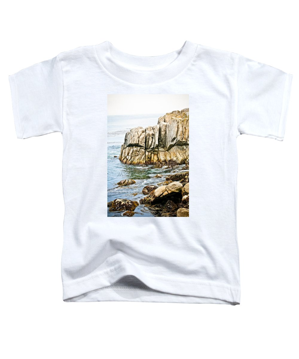 Pebble Beach Toddler T-Shirt featuring the photograph Shores Of Pebble Beach by Marilyn Hunt