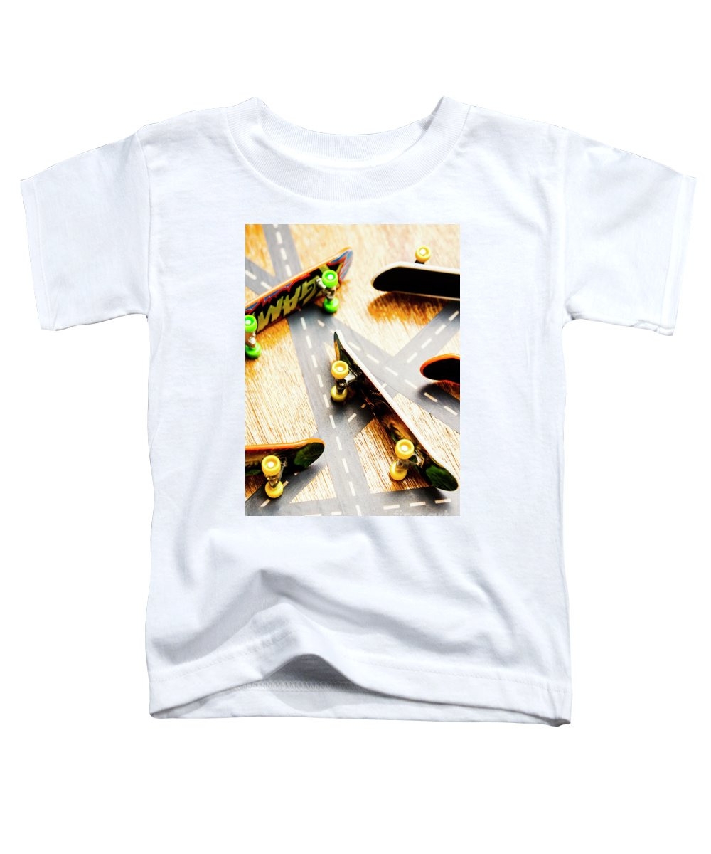 Skateboard Toddler T-Shirt featuring the photograph Side Streets Of Skate by Jorgo Photography - Wall Art Gallery