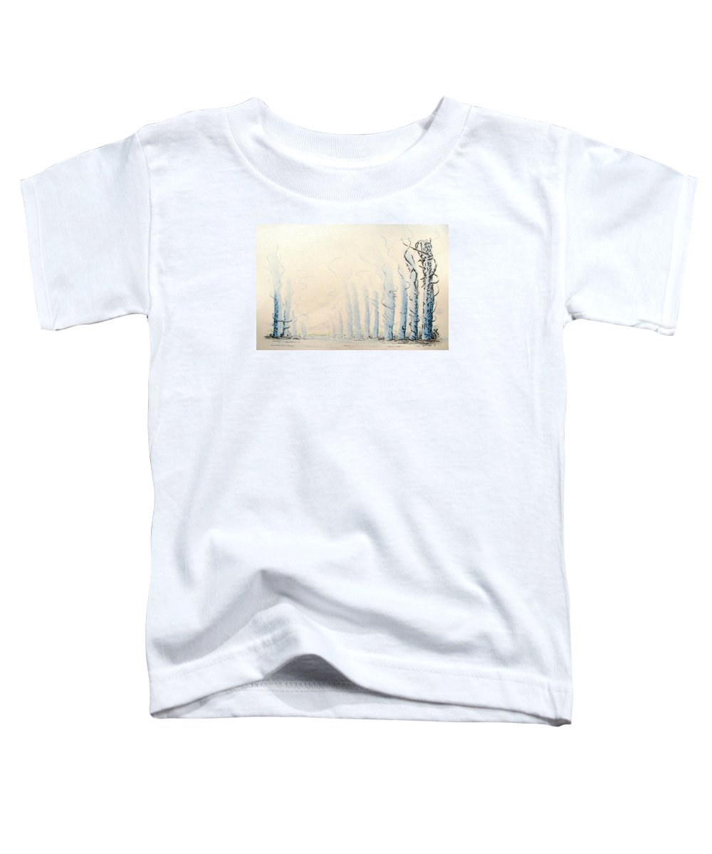 Watercolor Toddler T-Shirt featuring the painting Signals by Dave Martsolf
