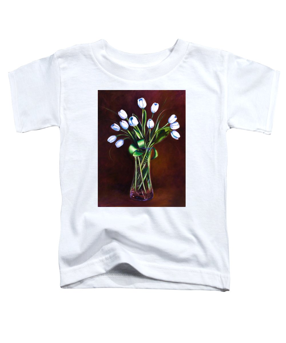 Shannon Grissom Toddler T-Shirt featuring the painting Simply Tulips by Shannon Grissom