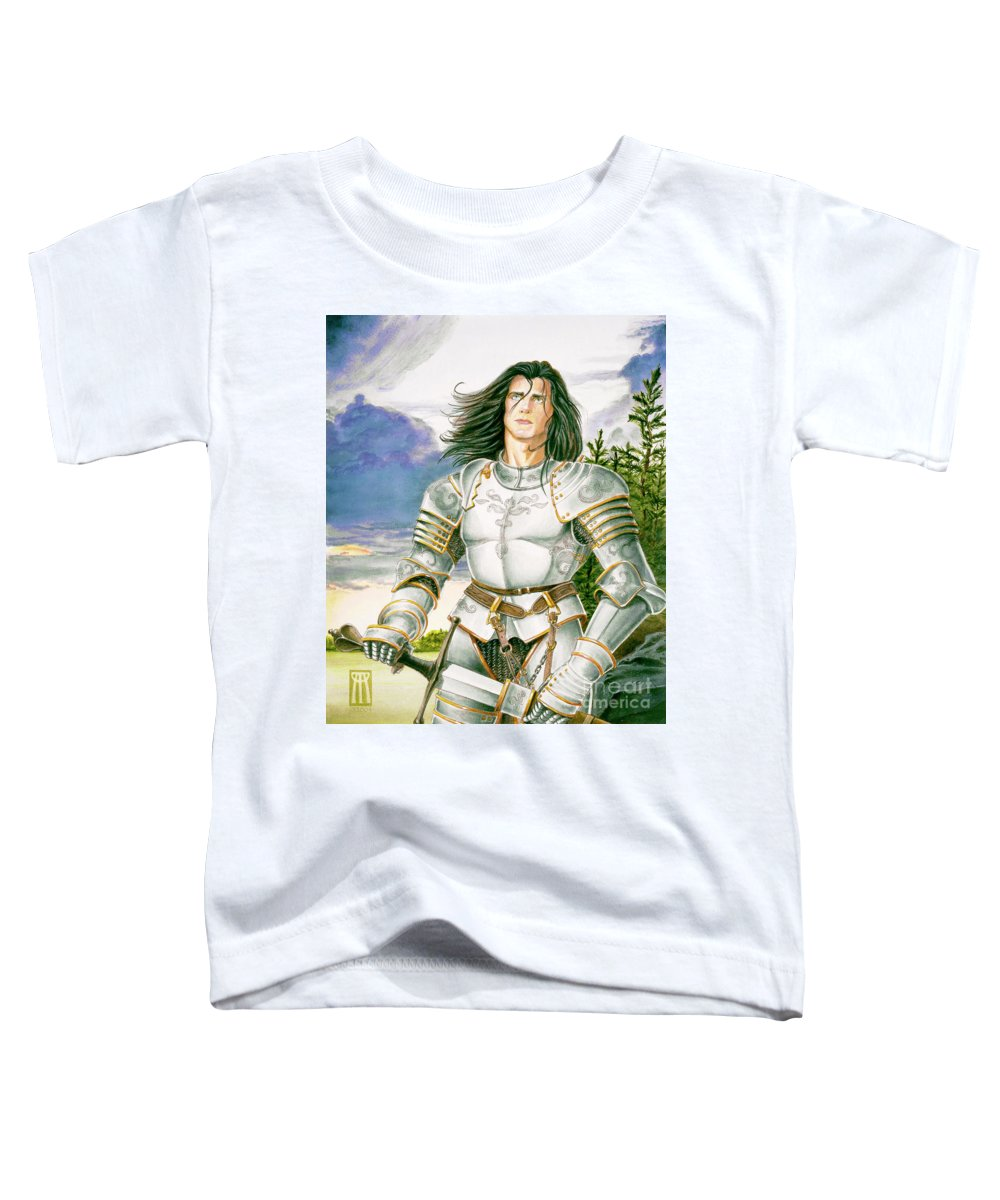 Swords Toddler T-Shirt featuring the painting Sir Lancelot by Melissa A Benson