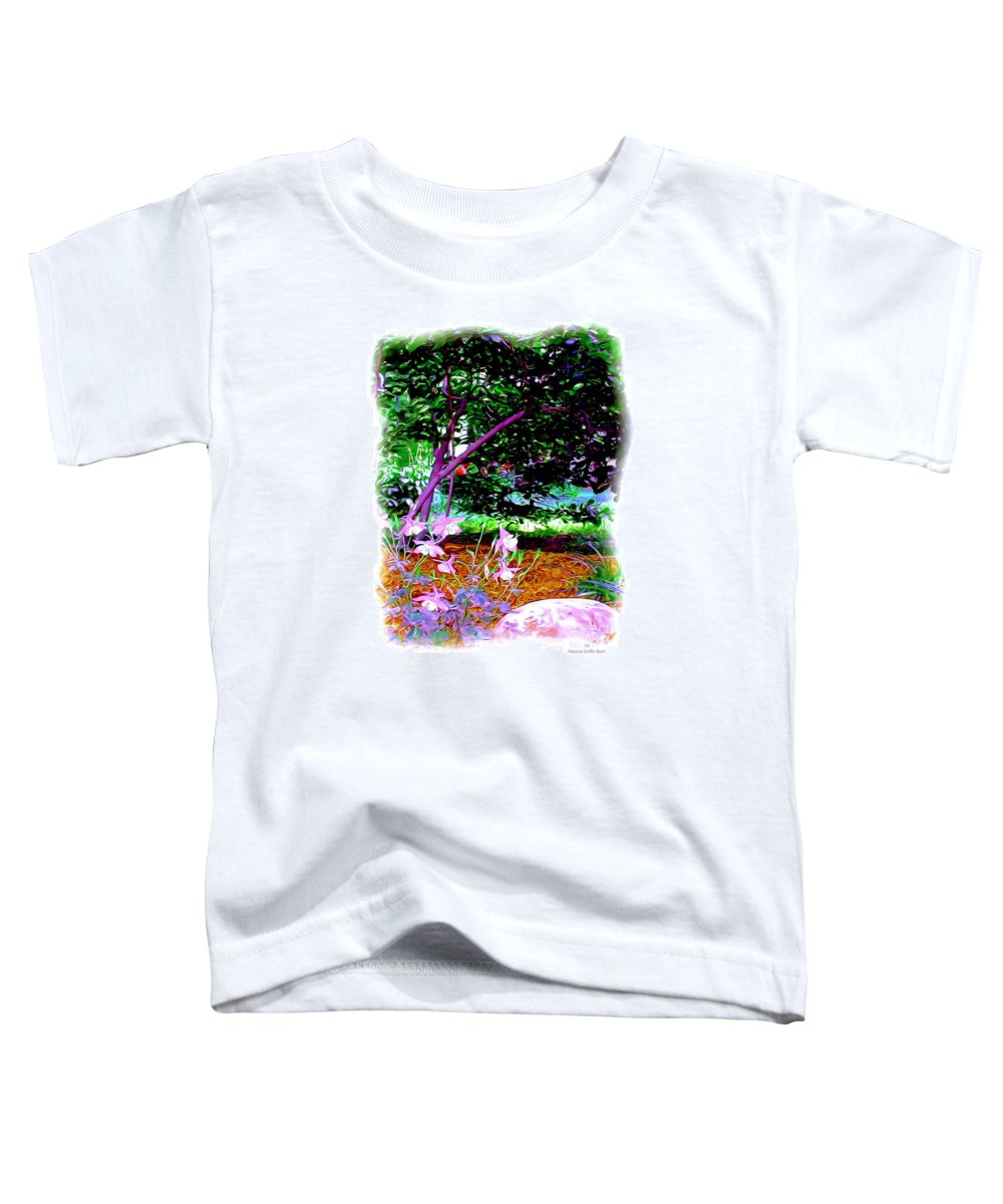 Fine Art Toddler T-Shirt featuring the painting Sitting In The Shade by Patricia Griffin Brett